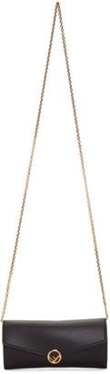 Fendi Black Chain Continental Wallet Bag