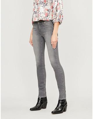 Paige Ladies Silver Cotton Denim Blue Verdugo Super-Skinny Mid-Rise Jeans, Size: 30