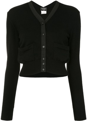 Chanel Pre Owned 1995 Buttoned Cropped Cardigan