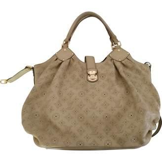 Louis Vuitton Mahina Beige Leather Handbags