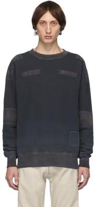 Ambush Black Bleach Patchwork Sweatshirt