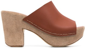 Del Carlo Chunky Suede Detail Mules