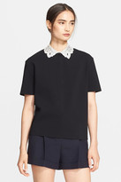 Valentino Leather Collar Top