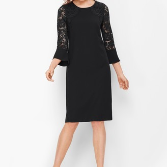Talbots Crepe & Lace Shift Dress