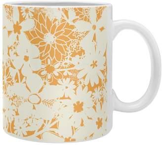 Deny Designs Joy Laforme Floral Rainforest Yellow Coffee Mug