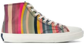 Paul Smith striped hi-top sneakers