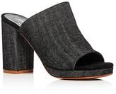 Robert Clergerie Abricet Denim High Heel Slide Sandals