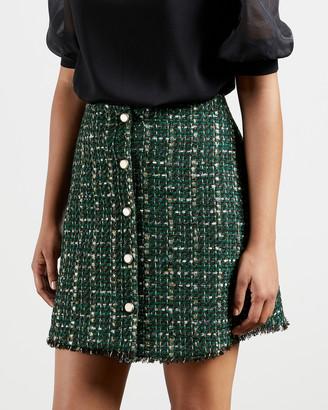 Ted Baker ERRINAS Boucle mini skirt