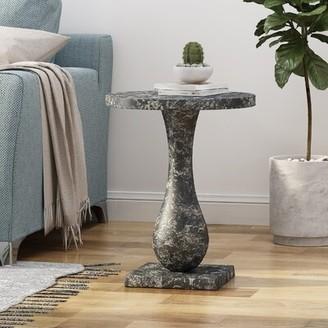 Rachel Modern Aluminum Accent Table Charlton Home
