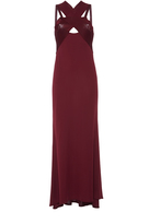 Roberto Cavalli Jersey Cross Neck Gown