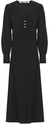 McQ Crystal-embellished Silk Crepe De Chine Midi Dress