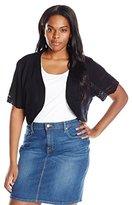 Robbie Bee Women's Plus Size 1pc Short Sleeve Shrug