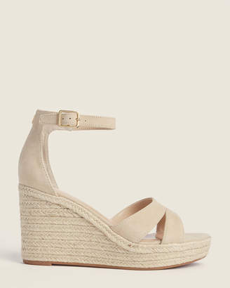 Lauren Ralph Lauren Light Straw Halda Espadrille Wedge Sandals