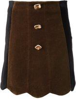 Vivetta - scallop hem skirt - women - Cotton/Polyester/Spandex/Elastane/Acetate - 42