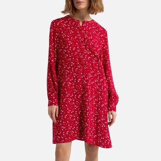 Esprit Floral Knee-Length Dress with Long Sleeves