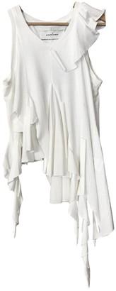 Marques Almeida White Cotton Top for Women