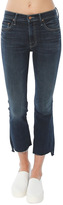 Mother Insider Crop Step Fray Jean