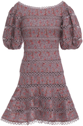 Zimmermann Juniper Contoured Ring Printed Linen Mini Dress