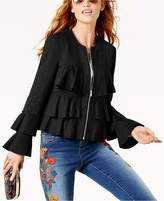 INC International Concepts Petite Tiered Ruffled Jacket, Created for Macy's