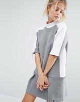 Nike Premium Court Sweat Dress With Drop Waist