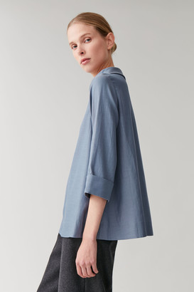 Cos Stand-Up Collar Top