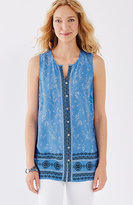 J. Jill Border-Print Sleeveless Top