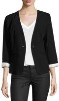 Kensie One-Button Long-Sleeve Blazer