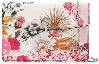 Salvatore Ferragamo Floral Print Clutch Bag