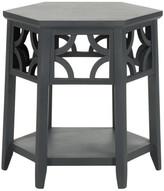 Safavieh Connor Hexagon End Table, Charcoal Gray