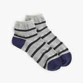 J.Crew Shimmer-striped ankle socks