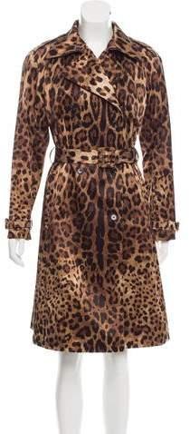 Dolce & Gabbana Animal Print Trench Coat