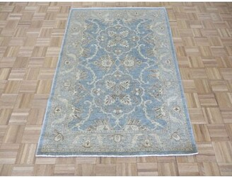 Blue Area Isabelline One-of-a-Kind Beaumont Oushak Hand-Knotted Rayon from Bamboo Rug Isabelline