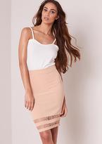 Missy Empire Christina Nude Lace Insert Midi Skirt