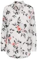 Equipment Slim Signature Floral Shirt in Bright White Multi