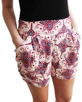 Gillberry Pants Gillberry Women Floral Printing High Waist Shorts Summer Casual Short Pants (S, )