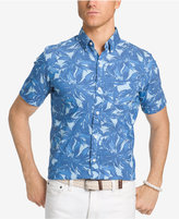 Izod Men's Performance UPF 15+ Advantage Palm-Print Cotton Shirt