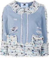 Blumarine fitted denim jacket