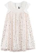 Ikks Off White and Copper Foil Star Print Dress