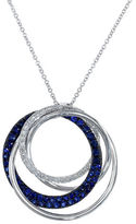 Effy Royale Bleu 14K White Gold Interlocking Rings Necklace with Sapphire and Diamonds