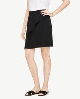 Ann Taylor Petite Asymmetric Ruffle Skirt