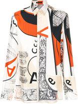 Versace Signature print slim shirt