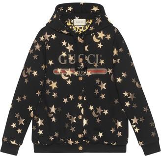 Gucci stars and moon print hoodie