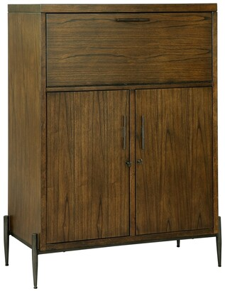 Howard Miller Open Cellar Modern Industrial Style, Foyer Liquor or Wine Cabinet, Buffet Sideboard, or Media Cabinet