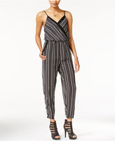 Bar III Printed Surplice Jumpsuit, Only at Macy's