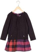 Burberry Girls' Supernova Check Long Sleeve Dress