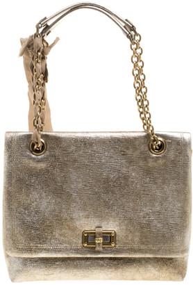 Lanvin Gold Leather Happy Shoulder Bag