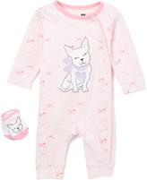 Vitamins Baby Pink Puppy Playsuit & Socks - Infant
