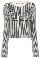 Fendi striped jumper - women - Polyamide/Mohair/Wool/Alpaca - 40