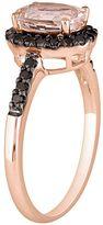Black Diamond 14k Rose Gold 1/4-ct. T.W. & Morganite Ring