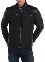 Zipper Sleeve Slim Fit Moto Jacket